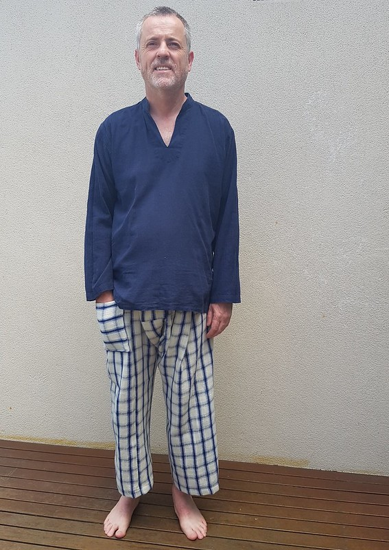 Thai Fisherman's Pants - Burda pattern, fabric from Chiang Mai