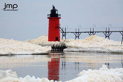 South Haven Lighthouse from the Ice