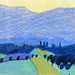After Félix Vallotton, Jura mountains, wax pastels on paper, 2017 by suzy_yes