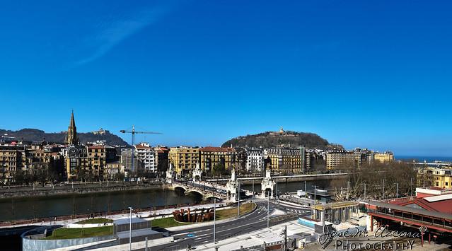 San Sebastián / Donostia. Vista panoramica y Rio Urumea.