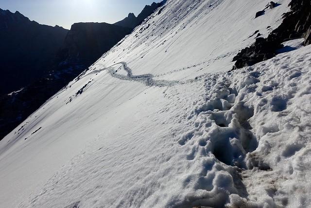 Icy Glen Pass traverse, m791