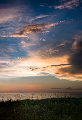 ocean sunset sky panorama usa cloud plant beach water weather landscape us florida cloudy dusk shore nokomis seaoats em5markiihighres ©edrosack