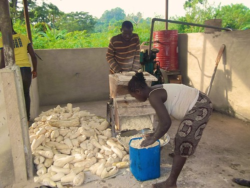 A newly built garri processing centre at the Ilu Ireti Leprosarium in Ondo