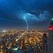 Blue Hour Storm - EXPLORED 6/21/15 by jnhPhoto