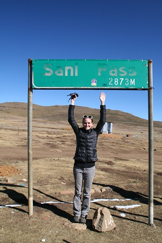 I made it to the top of Sani Pass, 2873 m