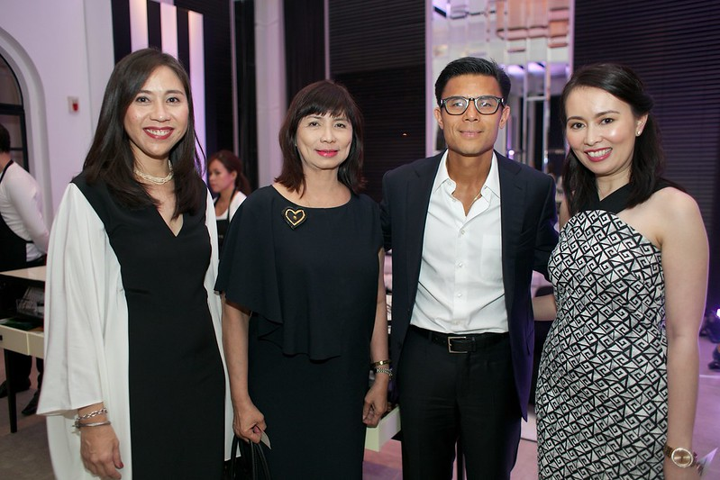 Millet Mananquil, Donnie Tantoco, Jo Malone Brand Manager Camille Flores-Oloan