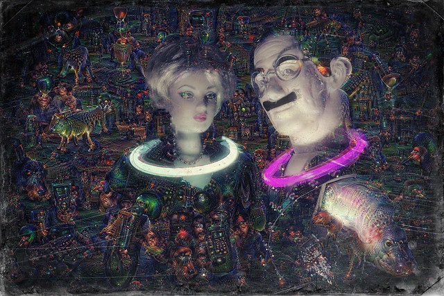 Groucho at the Deep Dream Rave