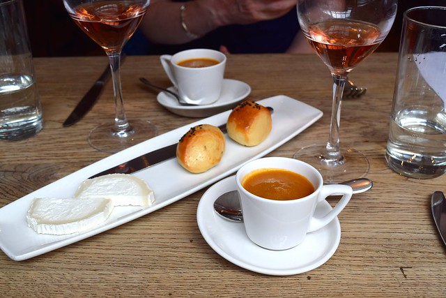 Cumin Gazpacho with Warm Rolls & Kentish Goats Cheese at The Ambrette, Canterbury