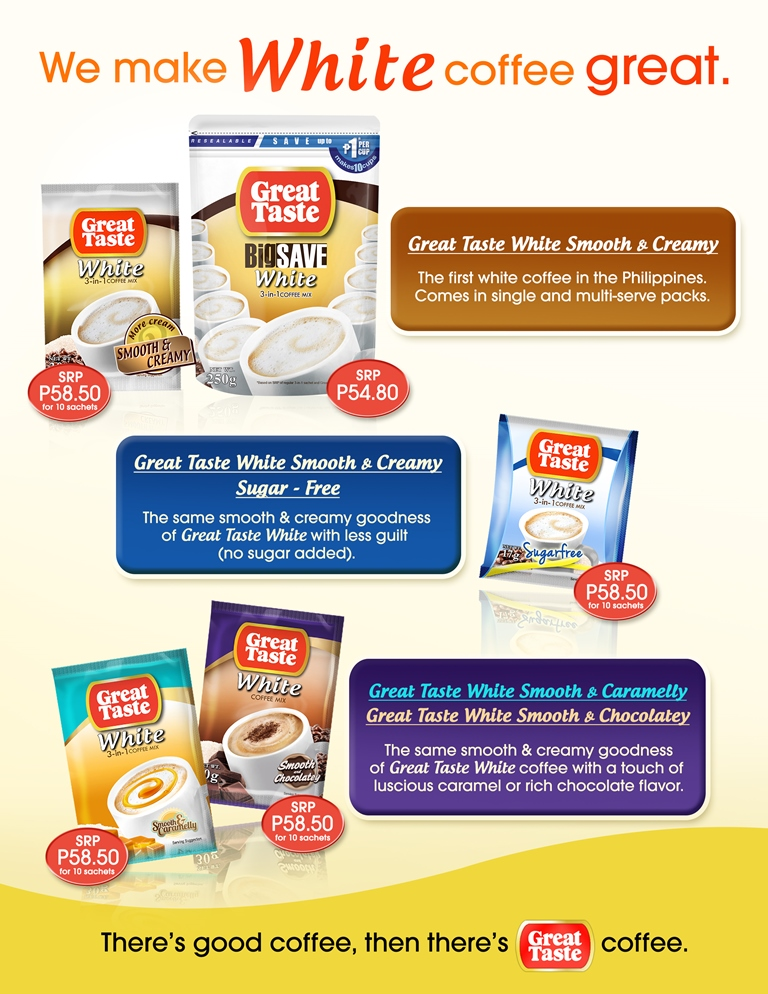 great taste white coffee