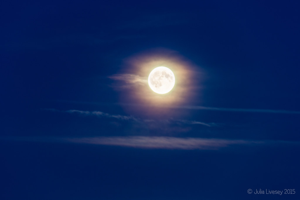 Blue Moon in a haze