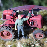 Case VAI tractor with figure 1/35