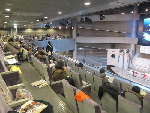 中山競馬場のメディアホール2階