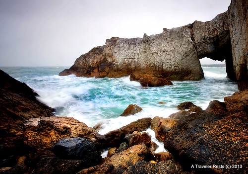 The-White-Arch irish sea anglesey wales