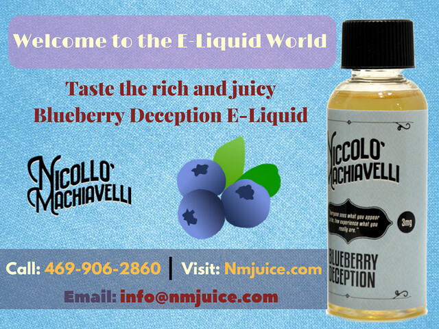 Experience the Tasty Blueberry E-Liquid