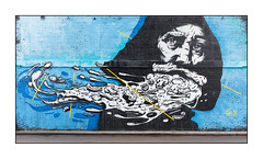 Street Art (Sr.X), East London, England.