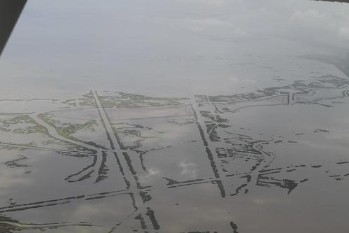 aerial restoration marsh