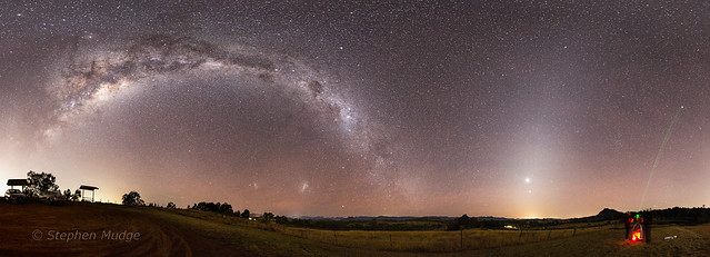 Milky Way, Airglow and Zodiacal Light (small)