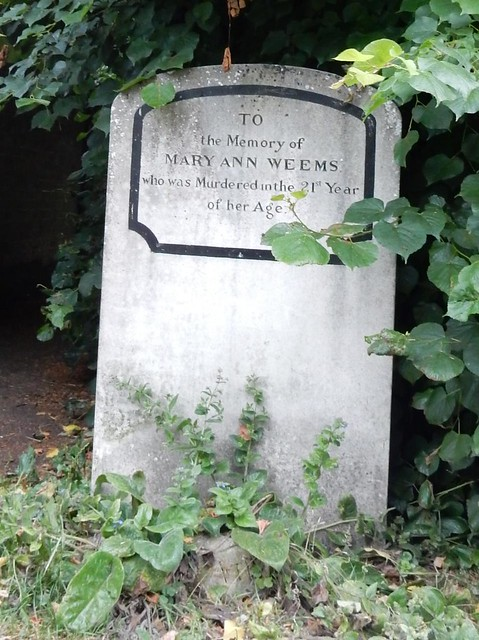 Mary AnneWeems grave (front)