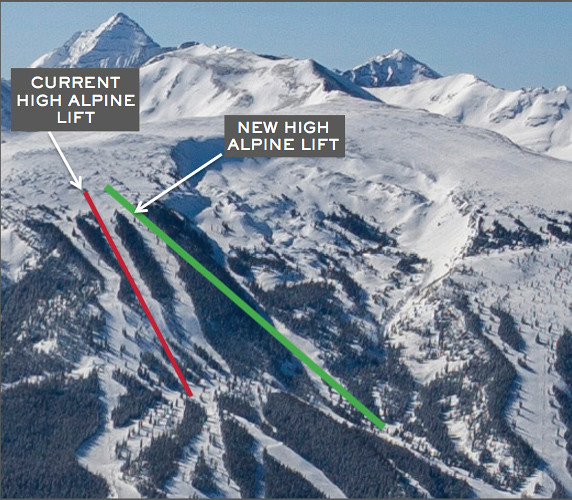 Map of High Alpine lift Snowmass