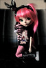 Grenade with her zebra plush by Vali.Tox.Doll