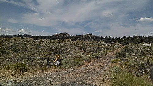 travel summer oregon landscape juniper sagebrush