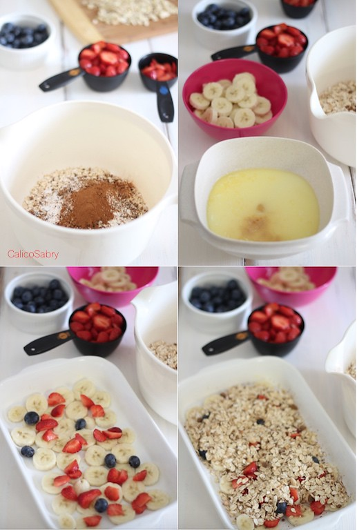 Baked oats collage