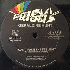GERALDINE HUNT:CAN'T FAKE THE FEELING(LABEL SIDE-A)