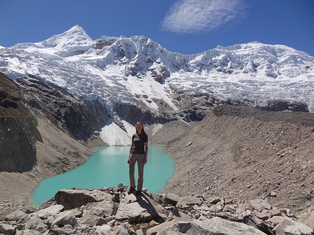 Highlights of the Cordillera Blanca Traverse: me at Laguna Milluacocha