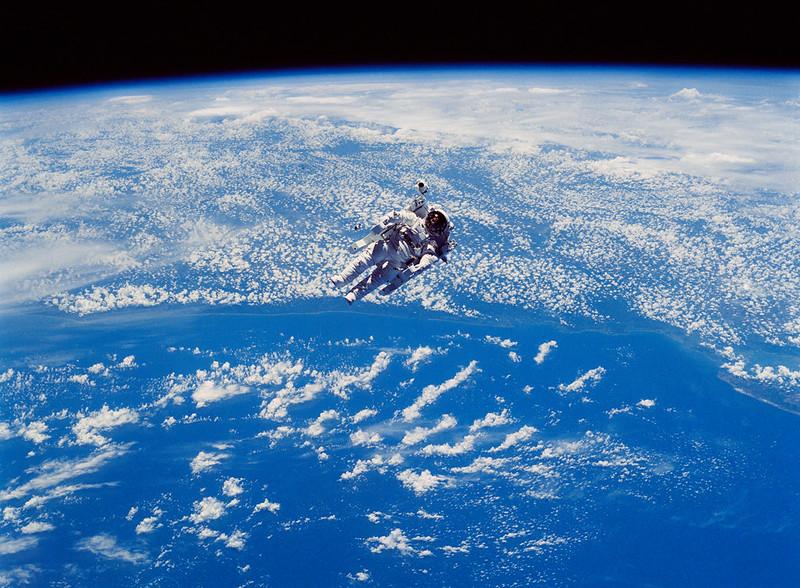 STS-41-B Spacewalk