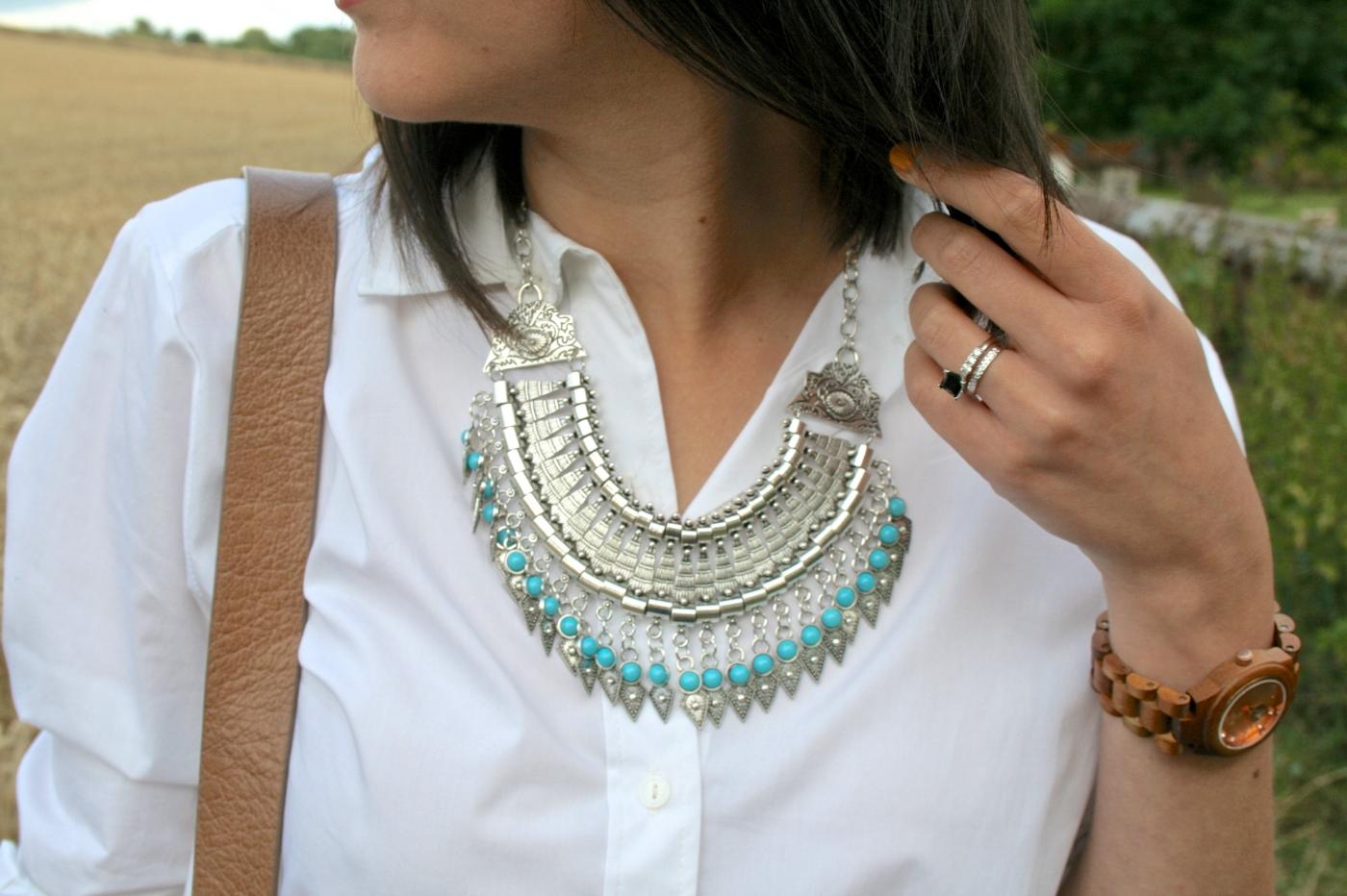 turquoise boho necklace