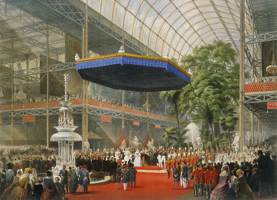 Queen Victoria opens the Great Exhibition in The Crystal Palace