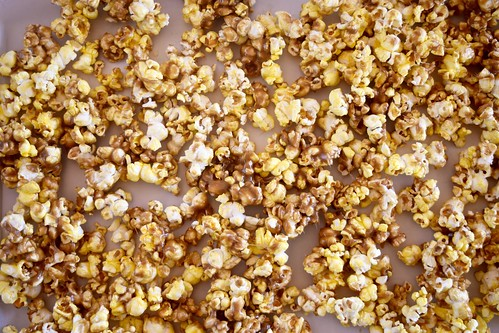 warm butterscotch caramel corn