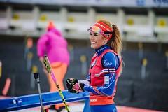 Gabriela Koukalová si po druhém místě ze stíhacího závodu oblékla dres vedoucí závodnice SP