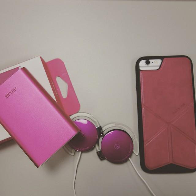 ASUS行動電源+鐵三角耳機+skinarma手機保護套