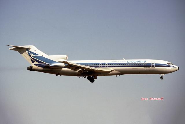 Lineas Aereas Canarias LV-MIM Boeing B-727-287/Adv PMI 08-1988