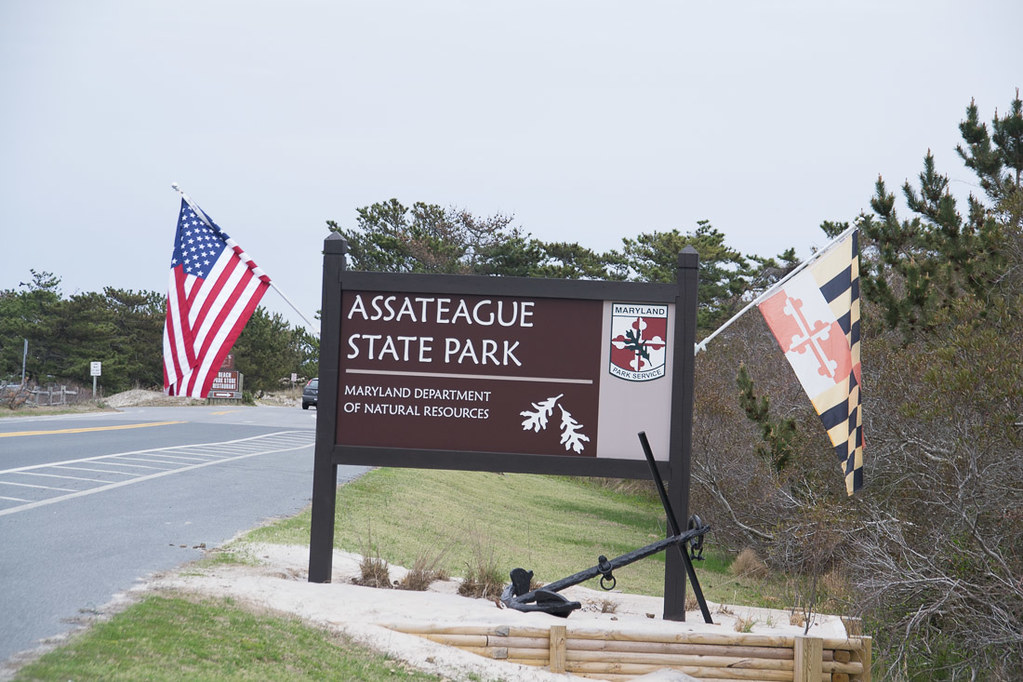 Assateague State Park entrance