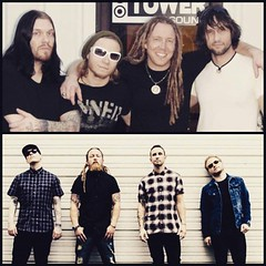 Zach's Instagram: #Tbt ... Nearly 8 years between these 2 photos. #Shinedown