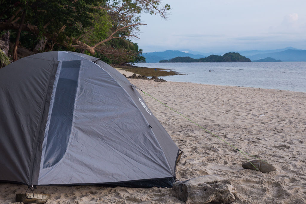 Camping opn a deserted beach near Port Barton, Palawan, Philippines. The Top 5 Water Activities to do in the Philippines
