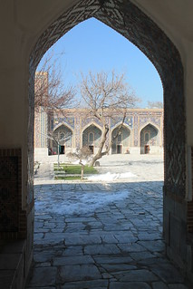 Image of Registan square near Samarqand. travel history architecture buildings asia culture historical uzbekistan centralasia samarkand placeofworship traditionalarchitecture houseofworship religiousarchitecture exoticplaces differentplaces travelworld exotictravel cultureworld cultureasia unusualdestinations exoticasia