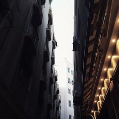 Half-day, half-night #athens #urban #lookingup #lookup #alwayslookingup #vsco #vscocam