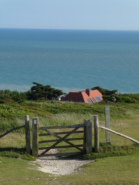 Leaving the sea behind Just beyond Birling Gap, Eastbourne to East Dean walk