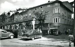 postcard - bolzano - piazza walter - hotel grifone