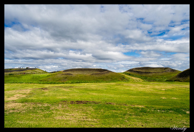 Pseudocráteres de Skútustadir en lago Mývatn