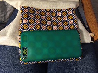 Still too small embroidered pouch