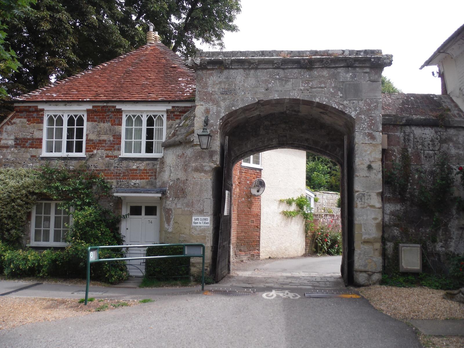 Medieval Gate, De Vaux Place, Salisbury SWC Walk 254 Salisbury Circular