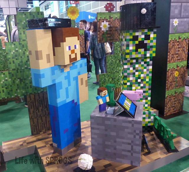 Lego Minecraft at the XBox One Booth