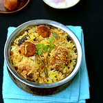 Kofta biryani recipe-Vegetarian version