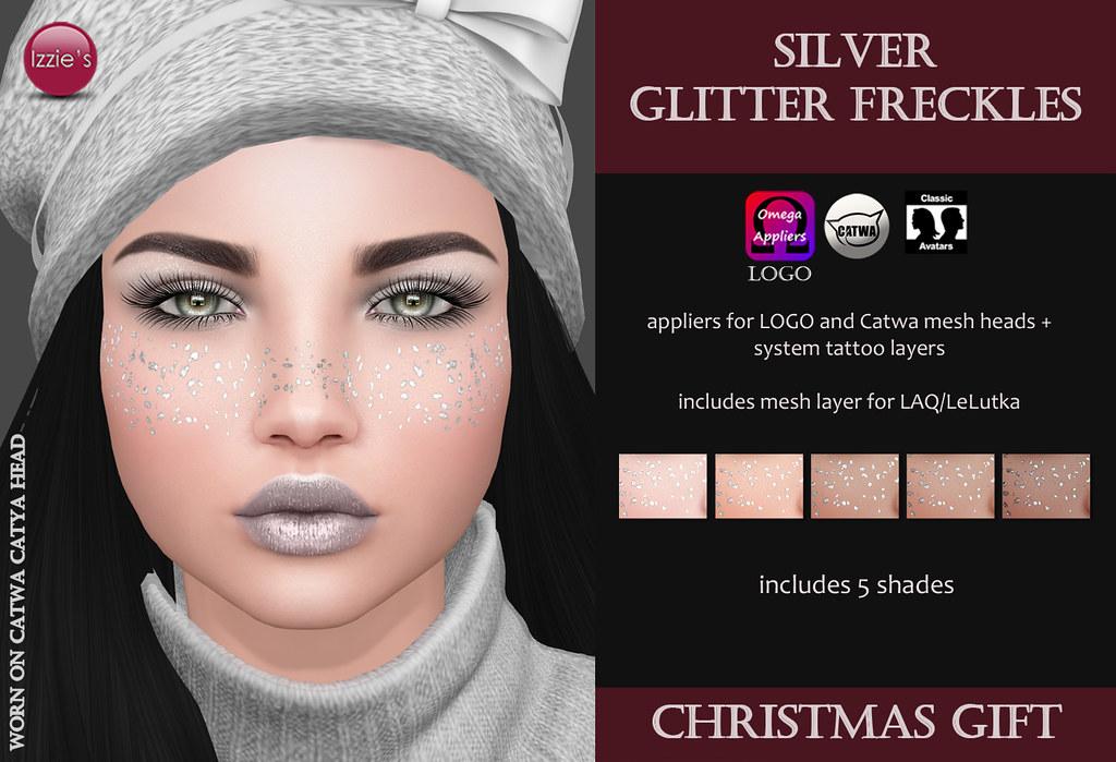 Silver Glitter Freckles (Christmas Gift) - SecondLifeHub.com