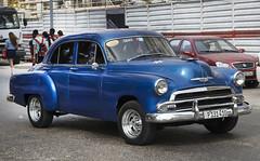 1951 Blue Chevrolet Deluxe Taxi. Havana, Cuba