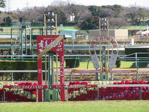 中山競馬場のゴール板
